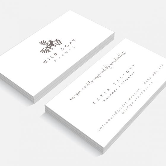 business card design byron bay